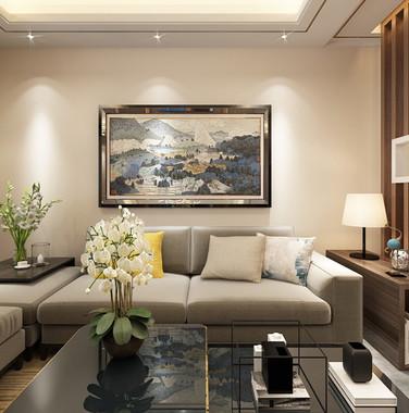 90平米后现代风格沙发背景墙设计图