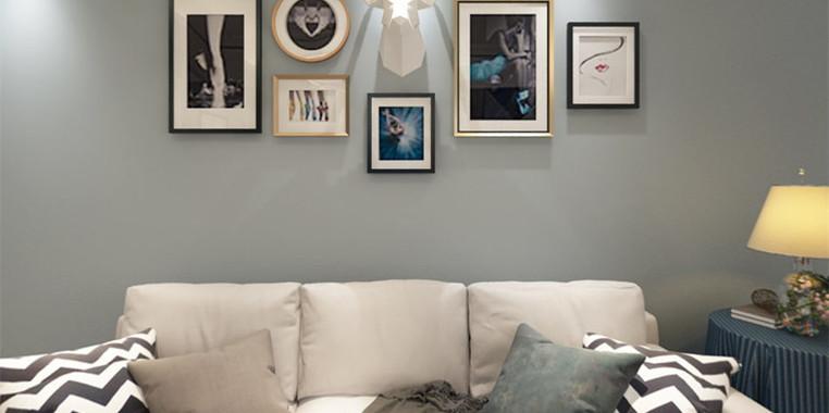 80平米简欧风沙发背景墙设计图