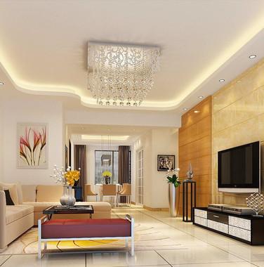 70平方米现代风两室一厅装修效果图