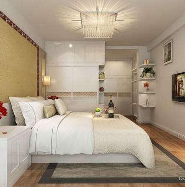 110平米简欧风格卧室墙面装修效果图