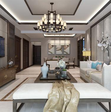 新中式两室一厅一卫装修效果图