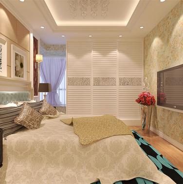 90平米简欧风格卧室墙面装修效果图