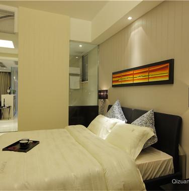 简约风格卧室床头背景墙装饰效果图