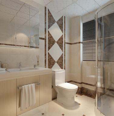 103平米三室一厅卫生间装修效果图