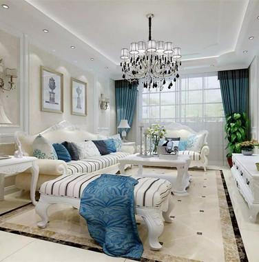 欧式风格装修效果图两室一厅