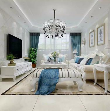 欧式风格客厅装修效果图两室一厅