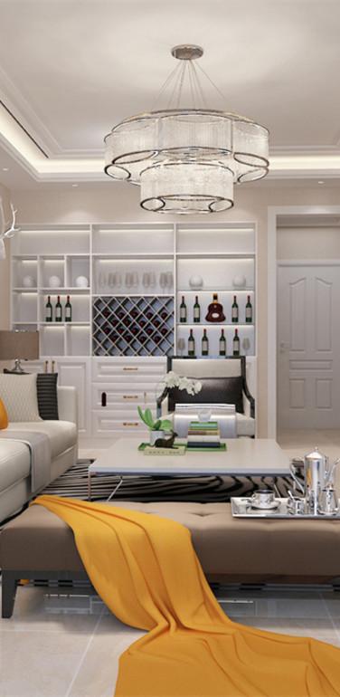 120平米简欧风格客厅装修设计图