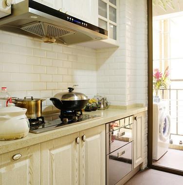 60平米现代风格一字型厨房设计效果图