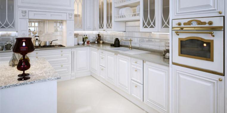 90平欧式风格厨房设计图片