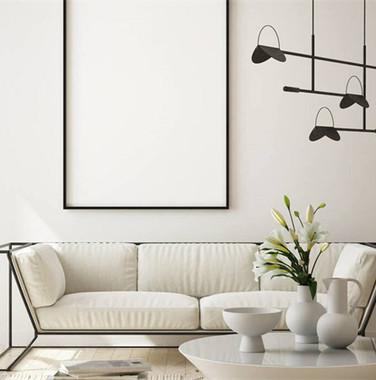 三居室现代简约风格客厅效果图