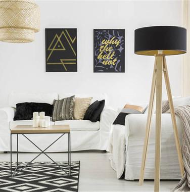 两居室欧式轻奢风格客厅设计图片
