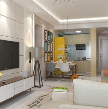 115平米欧式风格客厅设计效果图