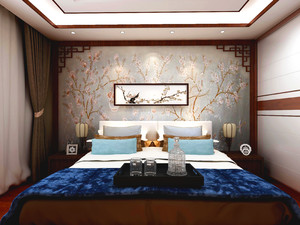 济南180㎡中式风格装修效果图