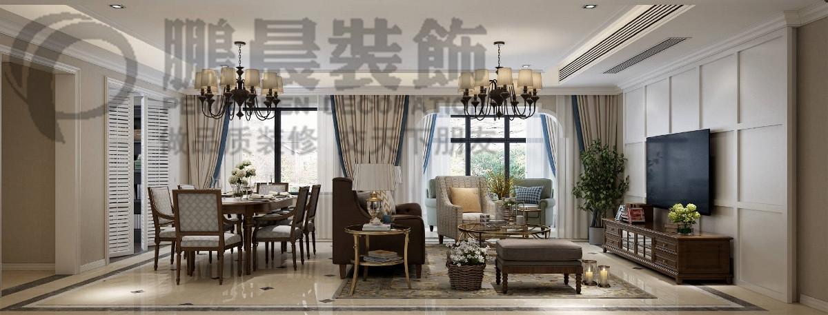 【鹏晨装饰】赭麓公馆 89平新古典风格装装修案例