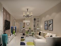 益寿东里现代风格 2室2厅1卫 90现代简约装修案例