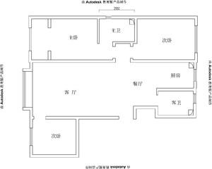 唐山99㎡现代简约装修效果图