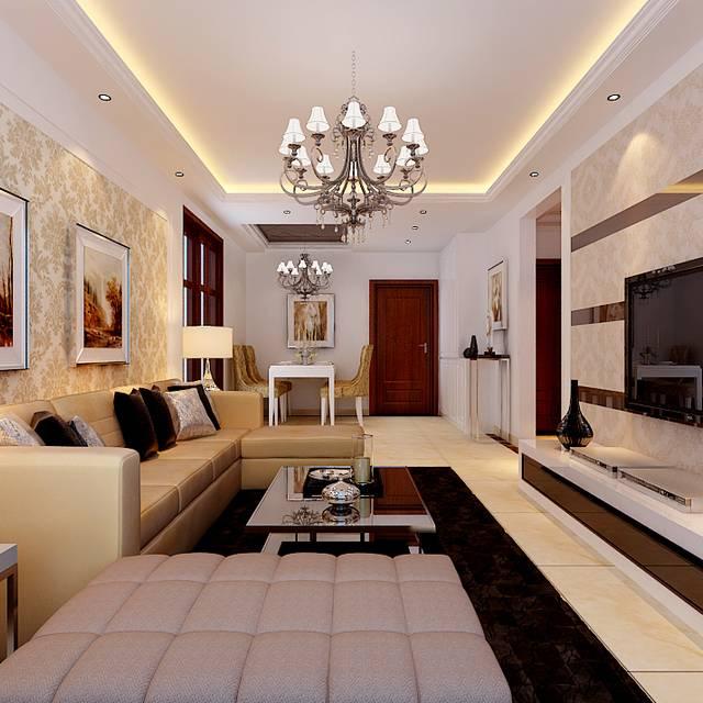 尚湖央邸 B 93平方93㎡普通户型现代简约装修案例