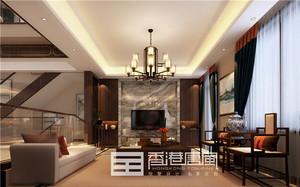 济南320㎡中式风格装修效果图