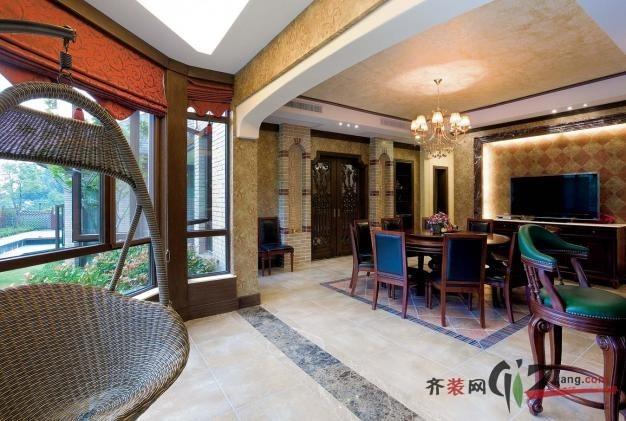 杭州九溪玫瑰园美式风格装修效果图