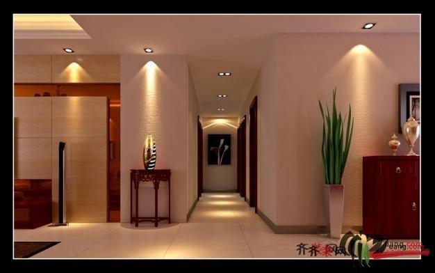 里河新村中式风格装修效果图