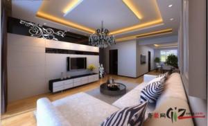 泗阳130㎡中式风格装修效果图