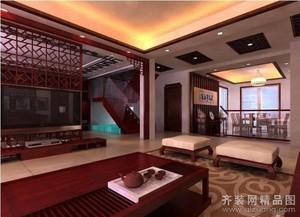 宜兴280㎡中式风格装修效果图