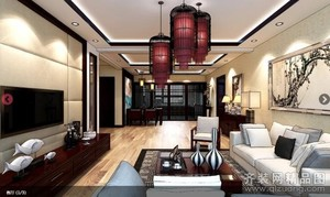 泗阳360㎡古典风格装修效果图