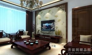 济南143㎡中式风格装修效果图
