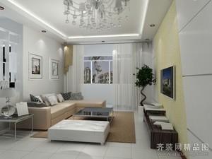 济南117㎡现代简约装修效果图