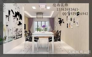 济南126㎡现代简约装修效果图