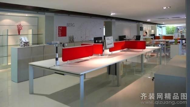 欧林办公空间1200㎡普通户型现代简约装修案例
