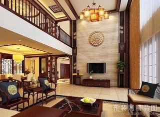 中式现代-珠江帝景空中别墅