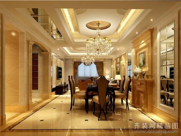 金色家园360㎡复式户型欧式风格装修案例