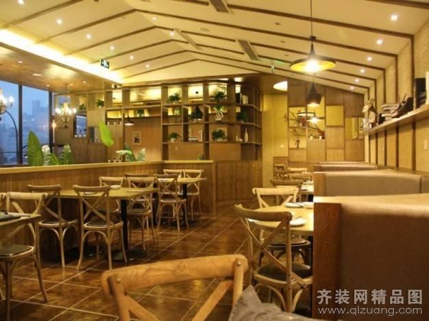 文一西路南宫餐厅460㎡普通户型美式风格装修案例