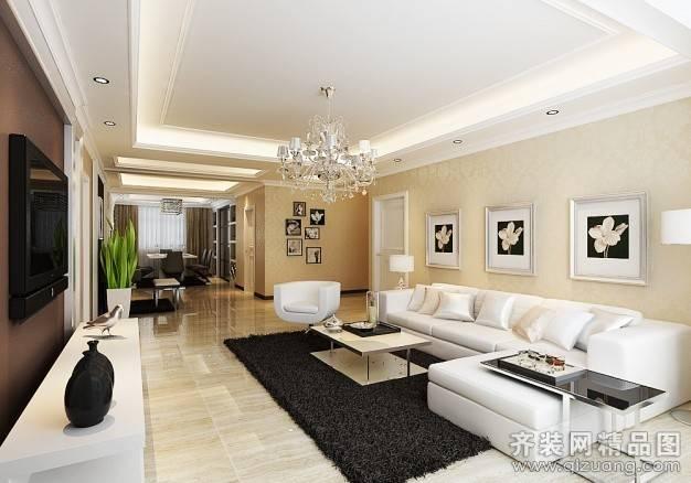 戈雅公寓135㎡普通户型现代简约装修案例