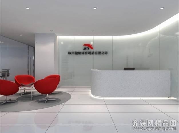 健驰体育用品办公室680㎡普通户型现代简约装修案例