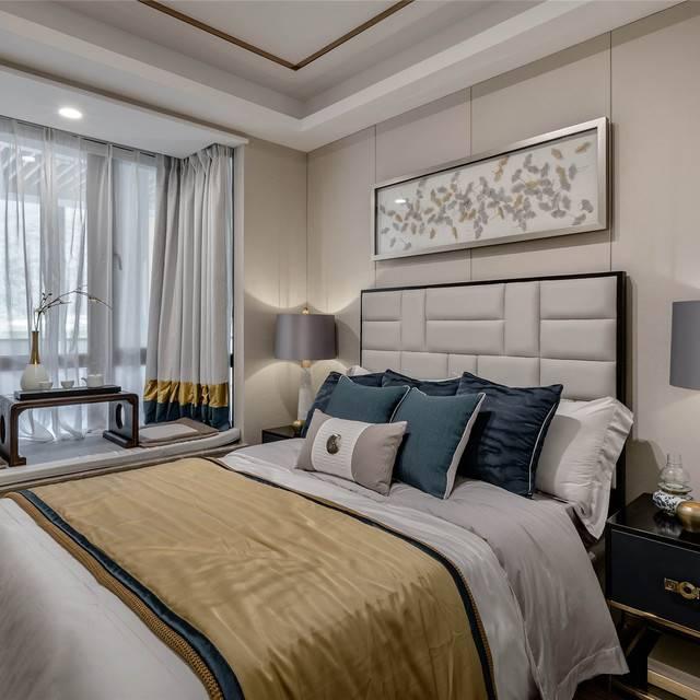 汇豪官邸128㎡普通户型中式风格装修案例
