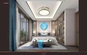 济南150㎡中式风格装修效果图