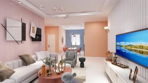 青岛119㎡欧式风格装修效果图