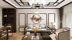 新中式  恒瑞家园 91㎡中式风格装修案例