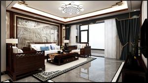 济南135㎡中式风格装修效果图