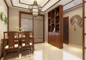 青岛90㎡中式风格装修效果图