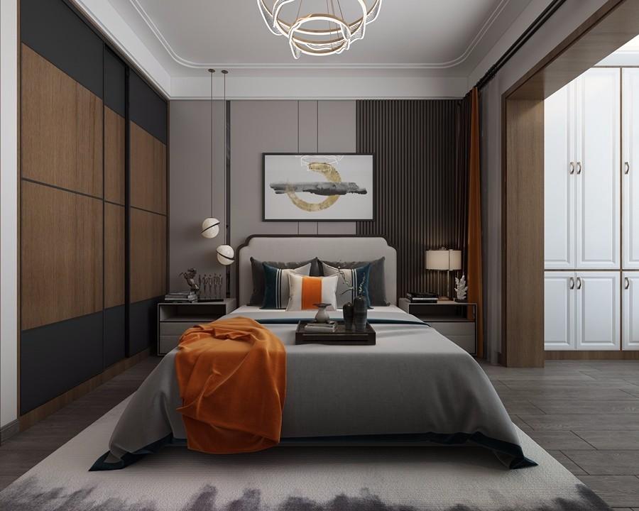 万科金域国际天泰家园中式风格装修效果图