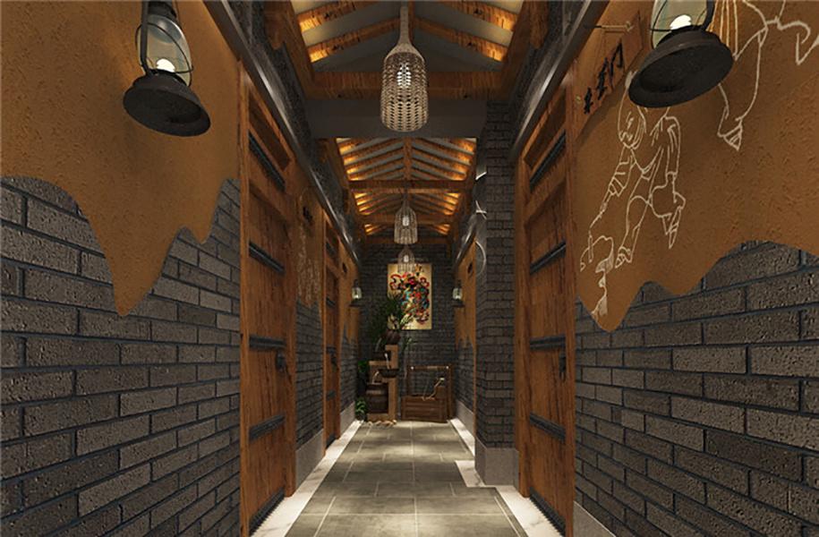 济南设计音乐主题餐厅的餐饮工装公司中式风格装修效果图