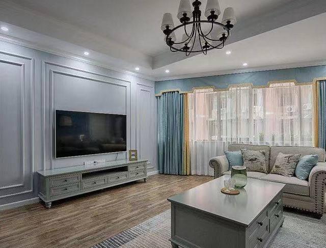 楚天都市沁园110㎡普通户型美式风格装修案例