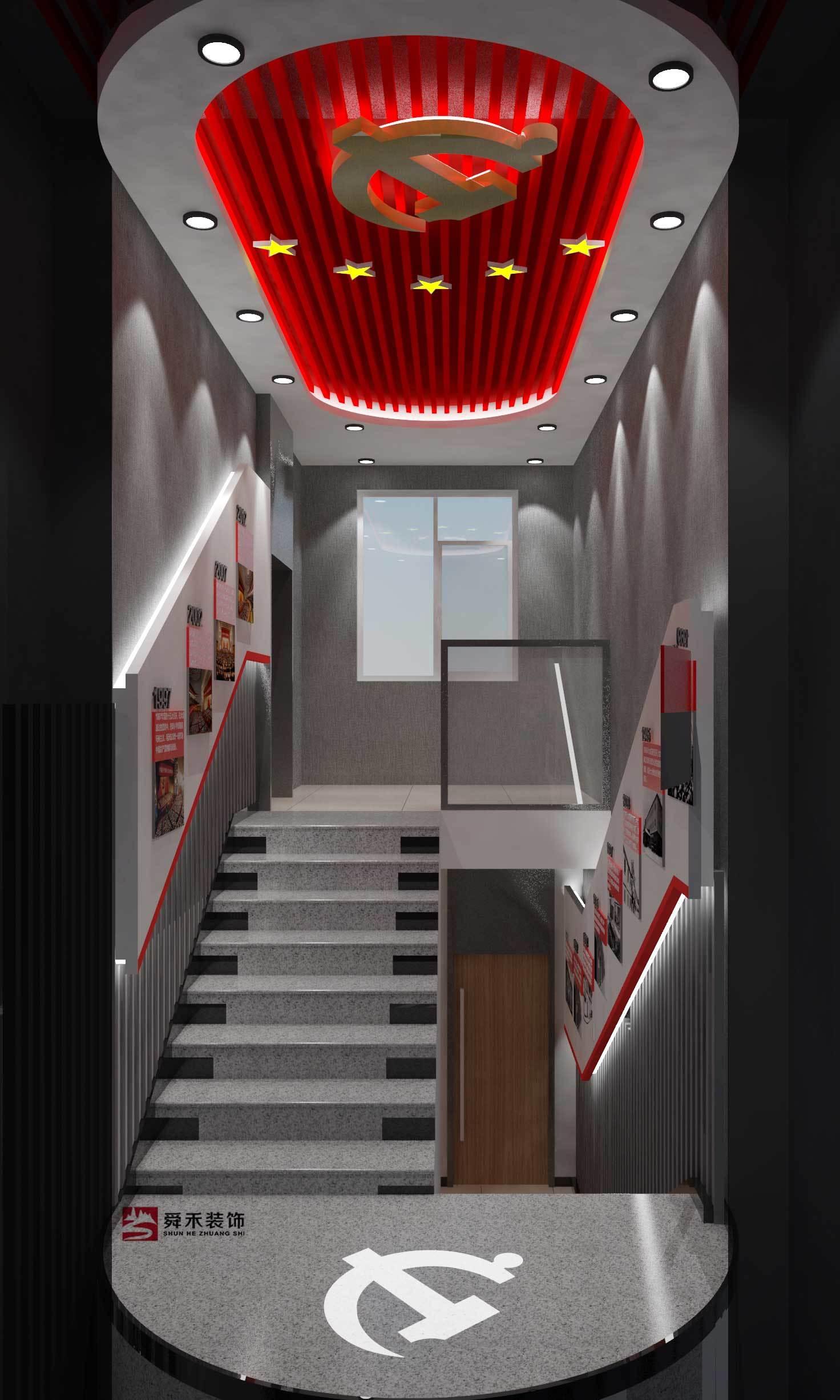 济南党建展厅装修设计公司现代简约装修效果图