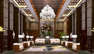济南300㎡中式风格装修效果图