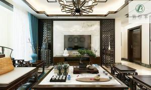 济南95㎡中式风格装修效果图