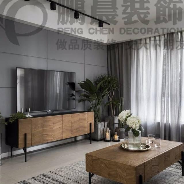 【鹏晨装饰】伟星雍璟台110平...110㎡普通户型现代简约装修案例