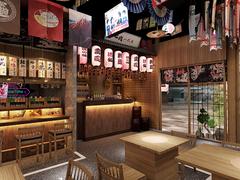 青岛设计日式料理店烤肉店的餐饮装修公司